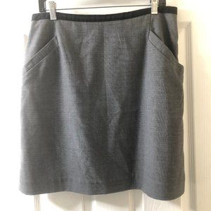 H&M Grey Mini Skirt with 2 Front Pockets